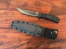 SOG Seal Pup Elite Fixed Blade Knife Black GRN AUS-8 Stainless E37T-K
