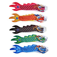 5x 70cm Dragon Carp Wind Sock Koinobori Fish Kite Flag Hanging Wall Decor