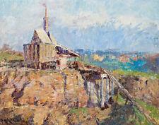 McCubbin Frederick The Richmond Stone Crusher Canvas 16 x 20   #3068