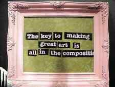 Banksy Art Is All In The Composition Painting A4 10x8 Photo Print Poster