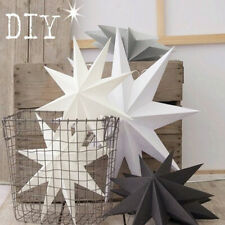 BL_ Funny Kids Room Classroom 30cm Nine-pointed Star Paper Hanging Decor DIY