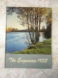 1952 EUGENE HIGH SCHOOL YEARBOOK, EUGENE, OREGON  EUGENEAN