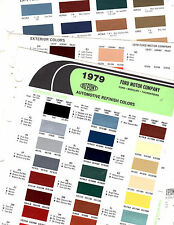 1979 FORD MUSTANG MERCURY COUGAR LINCOLN MARK V 79 PAINT CHIPS DUPONT 3