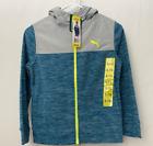 Puma Youth Boy Fleece Hoodie SOFT - Blue - NWT