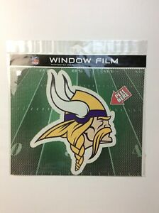 "Minnesota Vikings Perforated Window Car Film Decal 11"" Shade NFL Made In USA!!"