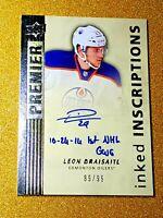 2014-15 Leon Draisaitl Premier Inked Inscriptions Rookie Auto /99 Autograph IILD