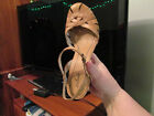 ladys high wedge heel Colorado leather sandals beige light brown. size 9