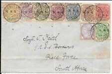 SOUTH AFRICA BOER WAR 1900 TO FIELD FORCE STAMPS CAT ON COVER £460