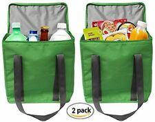 Earthwise LRG INSULATED Grocery Bag Shopping Tote Cooler w/ZIPPER Top Lid (2 pc)