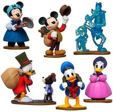 *MICKEY'S CHRISTMAS CAROL Figure Set DISNEY PVC TOY Cake Topper SCROOGE MCDUCK!*