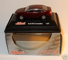 MICRO METAL DIE CAST SCHUCO HO 1/87 AUDI A6 LIMOUSINE ROUGE BORDEAUX IN BOX