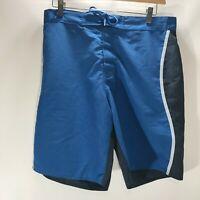 J Crew Board Shorts Swim Blue Colorblock Size 34