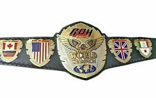 Ring Of Honor World Wrestling Champion  Belts Replica Thick Plates Adult