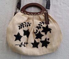 Tahitian Noni Gift Collection Handbag Purse Bag Wood Handle