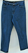 LEE RIDERS 1889 Relaxed Fit Straight Leg Jeans 12 LONG blue dark wash stretch
