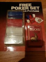 VINTAGE Bucks Playing Cards and Chips Philip Morris Inc.