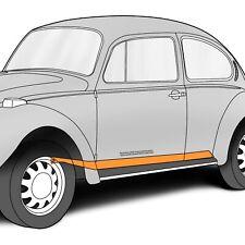 "1971-1979 VW Super Beetle Heater Channel LH Bottom Plate 72"" x 5"" 303745"