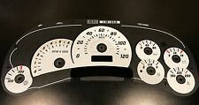 03-05 H2 Hummer White Instrument Cluster Gauge Face Overlay / Applique - OEM NEW