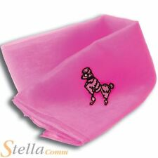 Ladies Pink Poodle Neck Tie Scarf 50s Grease Fancy Dress Costume Accessory
