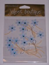 BLUE JEWELLED FLOWERS  -  Jolee's Boutique  #