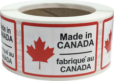 Made in Canada Labels 2 x 3 Inch Rectangles 500 Adhesive Stickers
