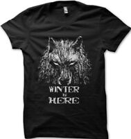GOT Game Of Thrones inspired WINTER is Here black t-shirt 9625