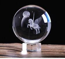laser Engraved Miniature Pegasus Crystal Ball Crystal Craft Sphere Glass Home