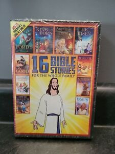 16 bible stories for the whole family collection DVD set religious God Jesus