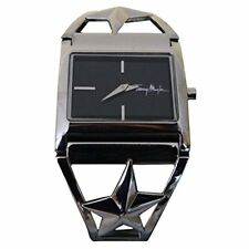 THIERRY MUGLER  - Steel & Black Stars Bracelet Watch - 4714101 - BRAND NEW
