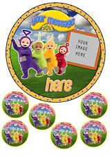 Teletubbies Cake Topper A4,Round,Square,Cupcake,add photo & message Edible Icing