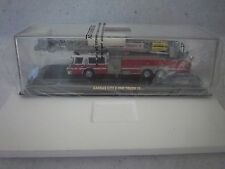 CODE 3 KANSAS CITY FIRE DEPT. E-ONE PLATFORM LADDER TRUCK L-15, NIB 1/64TH SCALE