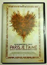 PARIS, JE T'AIME - DVD - HISTORIAS DE AMOR DESDE LA CIUDAD MAS ROMÁNTICA