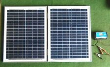 40 Vatios Portátil Plegable Kit Completo Panel Solar De 12V 40w Camping Caravana Camper Van