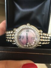 Chopard Happy Sport 7 Floating Diamonds And Diamond Bezel Watch Pearl Face