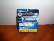 8 Pack Gillette Mach3 Turbo Mens Razor 3 Blade Refill Cartridges Sealed