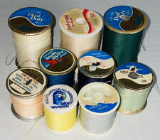 Lot of Vintage Sewing Thread Spools J&P Coats Dual Duty Plus Mint Green Teal
