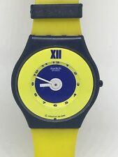 1997 Vintage Rare Swatch Watch Amarillo SFN101 Skin Orologio Reloj Armbanduhr