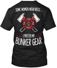 Comfy Firefighter Bunker Gear - Fire Dept. Some Women Hanes Tagless Tee T-Shirt