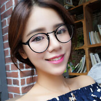 Vintage Clear Lens Eyeglasses Frame Retro Round Men Women Unisex Nerd Glasses YK