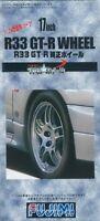 Fujimi TW49 1/24 17inch R33 GT-R Wheel & Tire Set f/ Modification F/S w/Track#