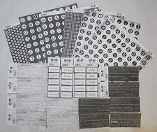 "39 Bulk Scrapbooking Australia Black & White 12""x12"" Paper & Embellishment Cards"