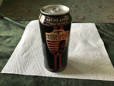 Craft beer Native Amber 16 oz bottom opened empty beer can.
