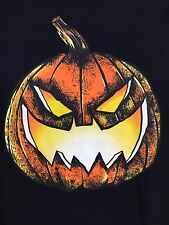 Batman Men's Bat o Lantern Pumpkin Halloween Black Graphic Tee Shirt Large