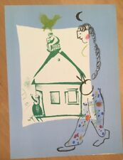 Marc Chagall, Our House In My Village, Original Lithograph,1960 Mourlot