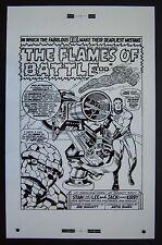 Original Production Art Fantastic Four #73 splash page, Jack Kirby art