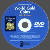 CATALOGUE DES PIÈCES D'OR DU MONDE DE 1601 À AUJOURD'HUI - WORLD GOLD COINS DVD