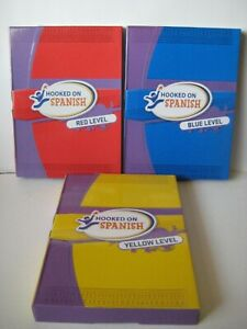 HOOKED ON SPANISH~Red, Blue and Yellow LEVEL SETS ~ Kids Educational Material