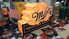 Miller 3-D Lampe Licht DINER LEUCHTREKLAME WERBUNG Amerika Beer