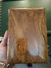 Antica Scatola, in legno massello di radica di ulivo, anni 50