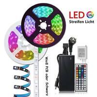 1M 5M 10M LED Streifen Licht 5050 SMD RGB Stripe Lichtband Wasserdicht Netzteil